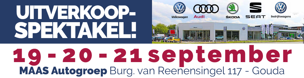 Online bannering - Automotive Sales Event - MAAS Autogroep Gouda - 51 verkochte auto's in 1 weekend - september 2019