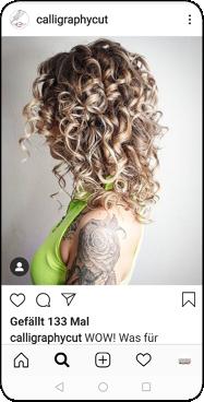 Calligraphy Cut bei Coiffure Vogue in Aarau. Foto Instagram Calligraphy Cut