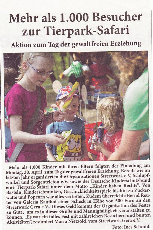 Quelle: Neues Gera, Ausgabe vom 4. Mai 2012