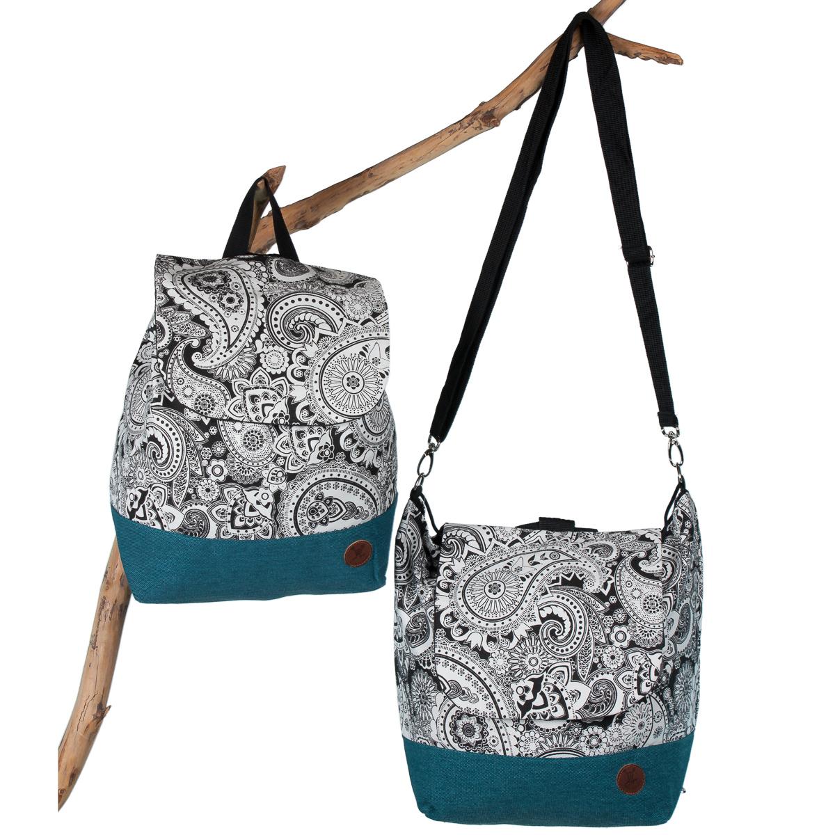 Rucksack-Tasche-Elegant-Silber