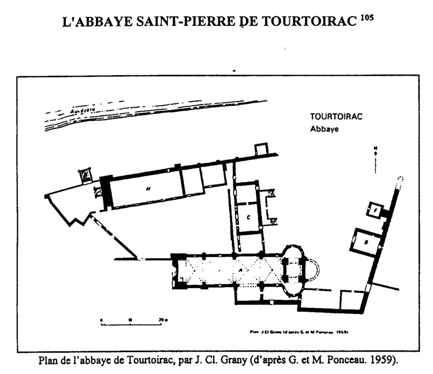 Plan de l'abbaye cistercienne