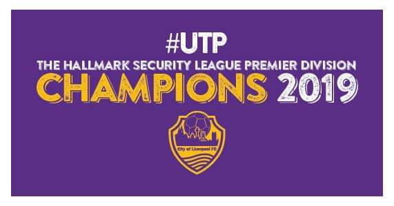 City of Liverpool FC Hallmark Security League Premier Division Champions 2018/19