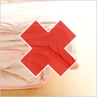 使用済みの布団はお断りしています。