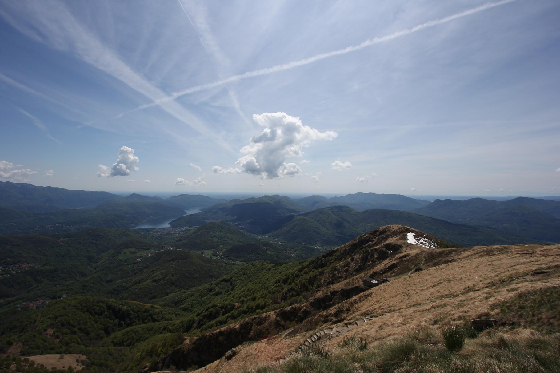 Blick vom Monte Lema Richtung Mailand