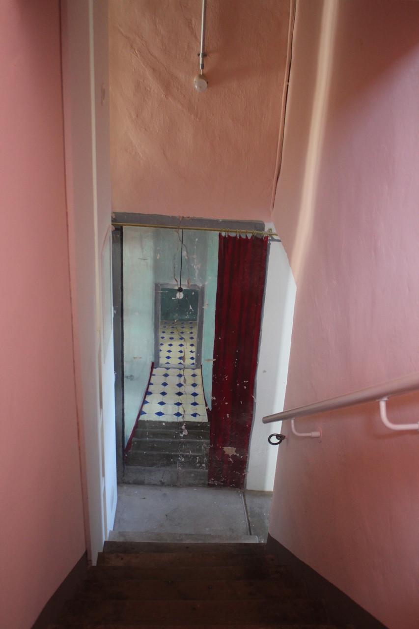 Trompe-l'oeil-Malerei im Treppenhaus