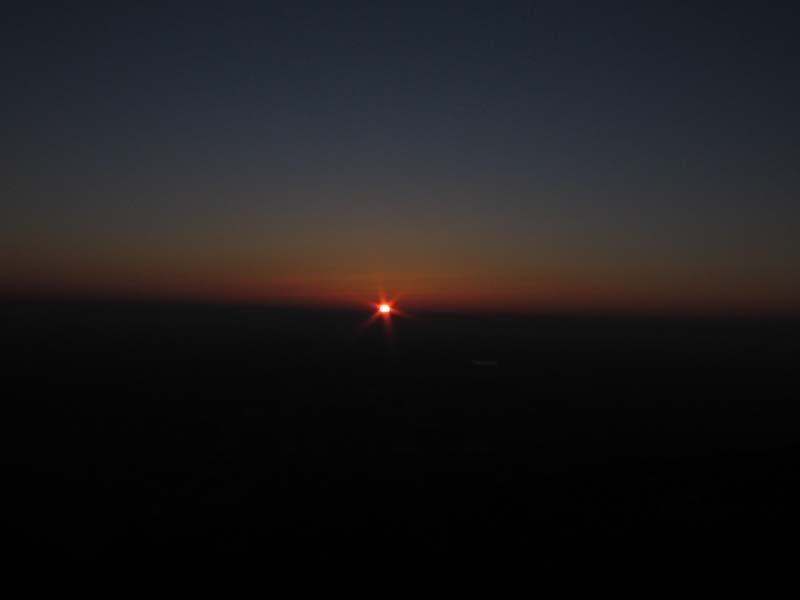 Sonnenaufgang vom Odilienberg / Elsass /Frankreich