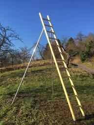 Obstbaumleiter, Stützenleiter, Holzleiter