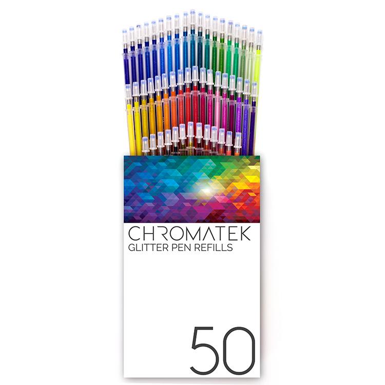50 recharges Glitter Stylo Recharges par chromatek