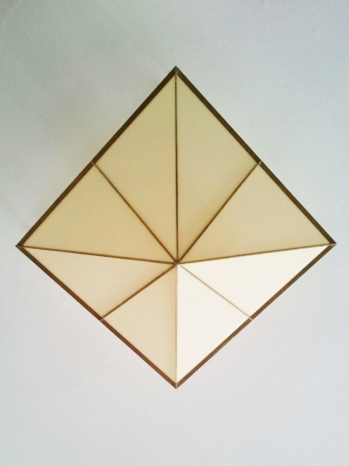 H.No.3 | 45 x 45 x 25 cm | brass, acrylic glass