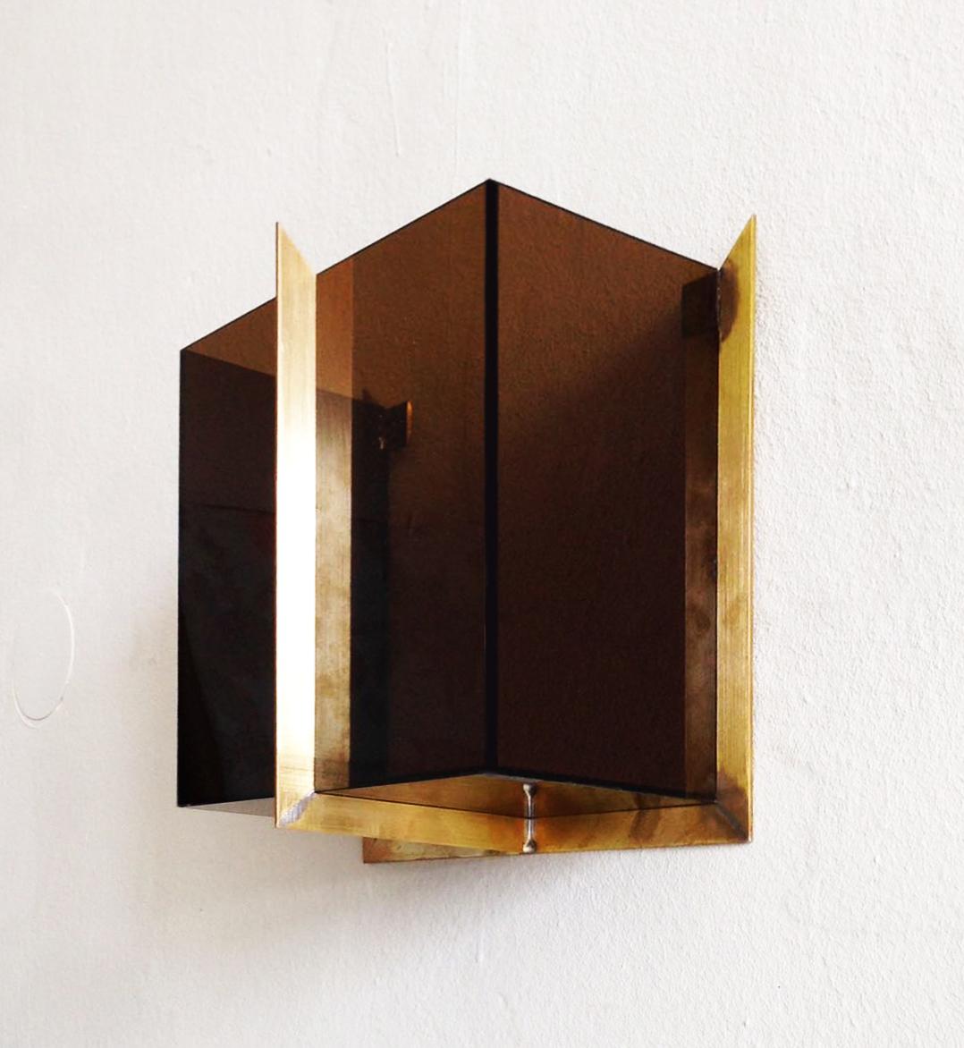 W.No.1 | 24 x 24 x 12 cm | brass, acrylic glass