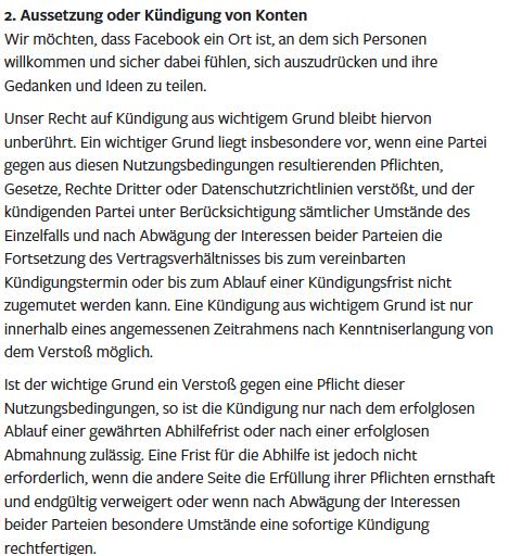 Facebook kont gesperrt sperre Aussetzen Kündigung gelöscht - Rechtsanwalt Sven Nelke