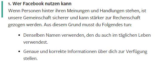 Wer Facebook nutzen darf - Fakeprofil - Fakeaccount - Fakekonto - Rechtsanwalt Sven Nelke