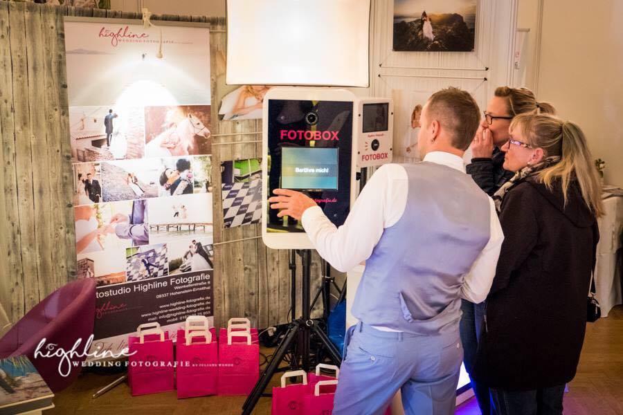 Fotobox-Fotobooth in Zwickau zur Hochzeitsmesse Feste & Feiern