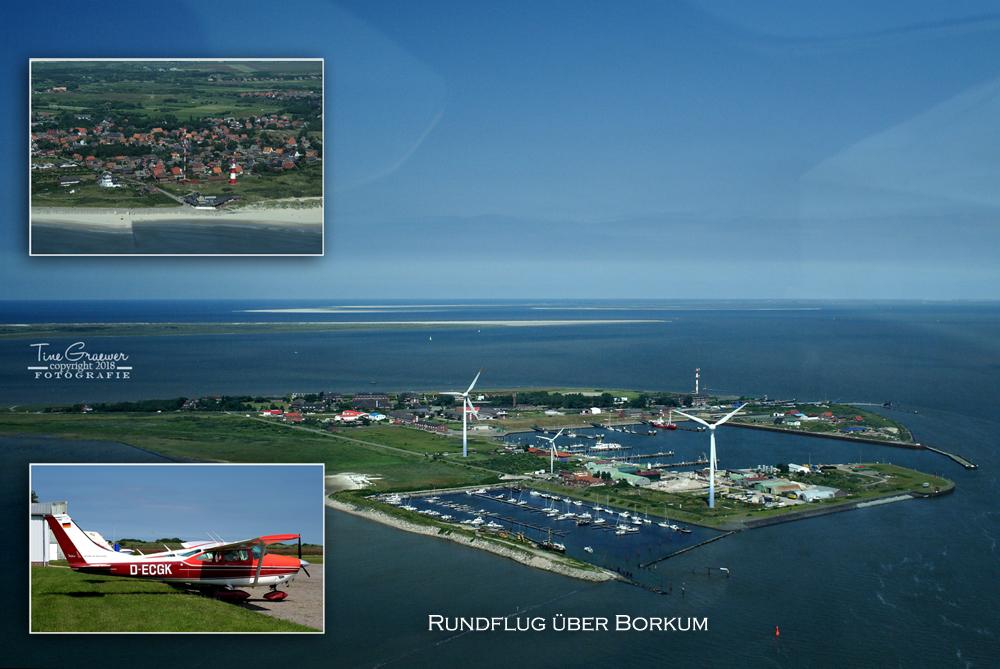 Luftbild Insel Borkum