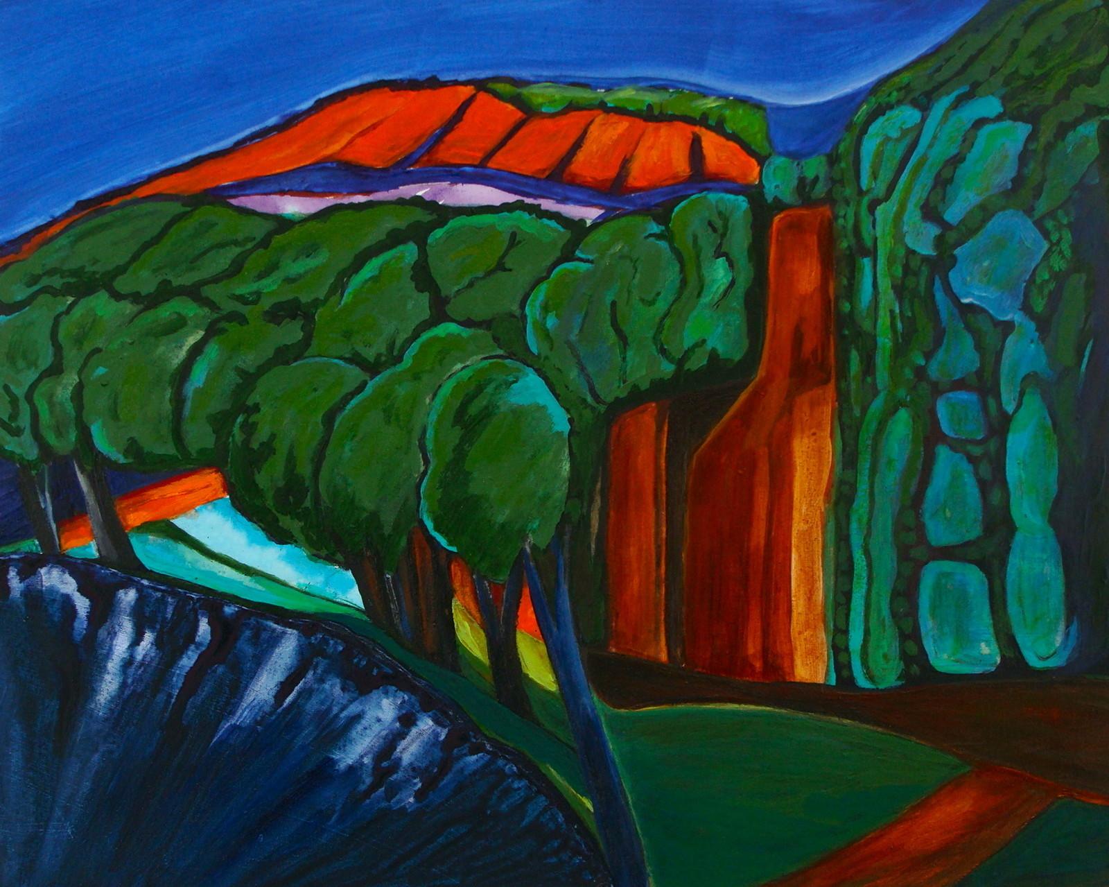 Sunset's Glow, oil on canvas, 20 x 16, 2014
