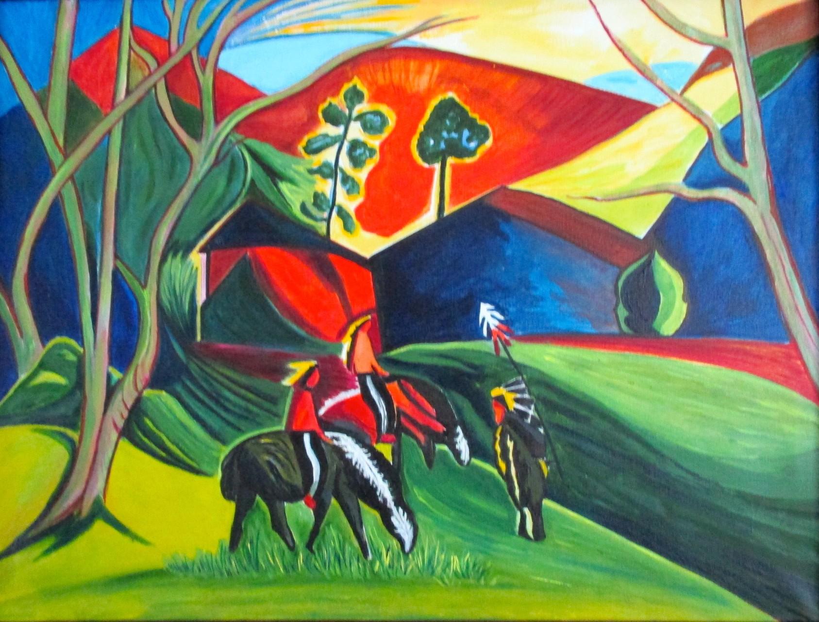 Native Lands, acrylic on canvas, 24 x 18, 2015