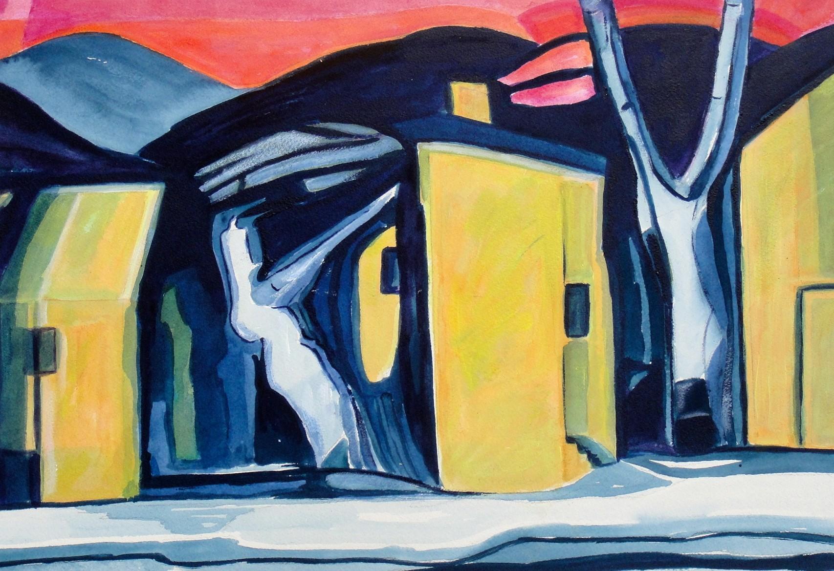 Winter Solstice, watercolor, 18.5 x 12.5, 2014