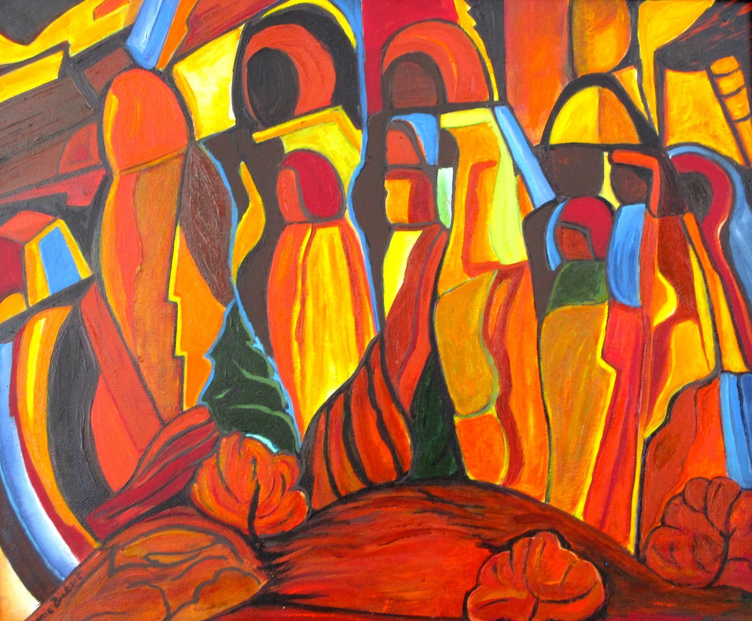 Procession, acrylic on canvas, 24 x 20, 2014 SOLD