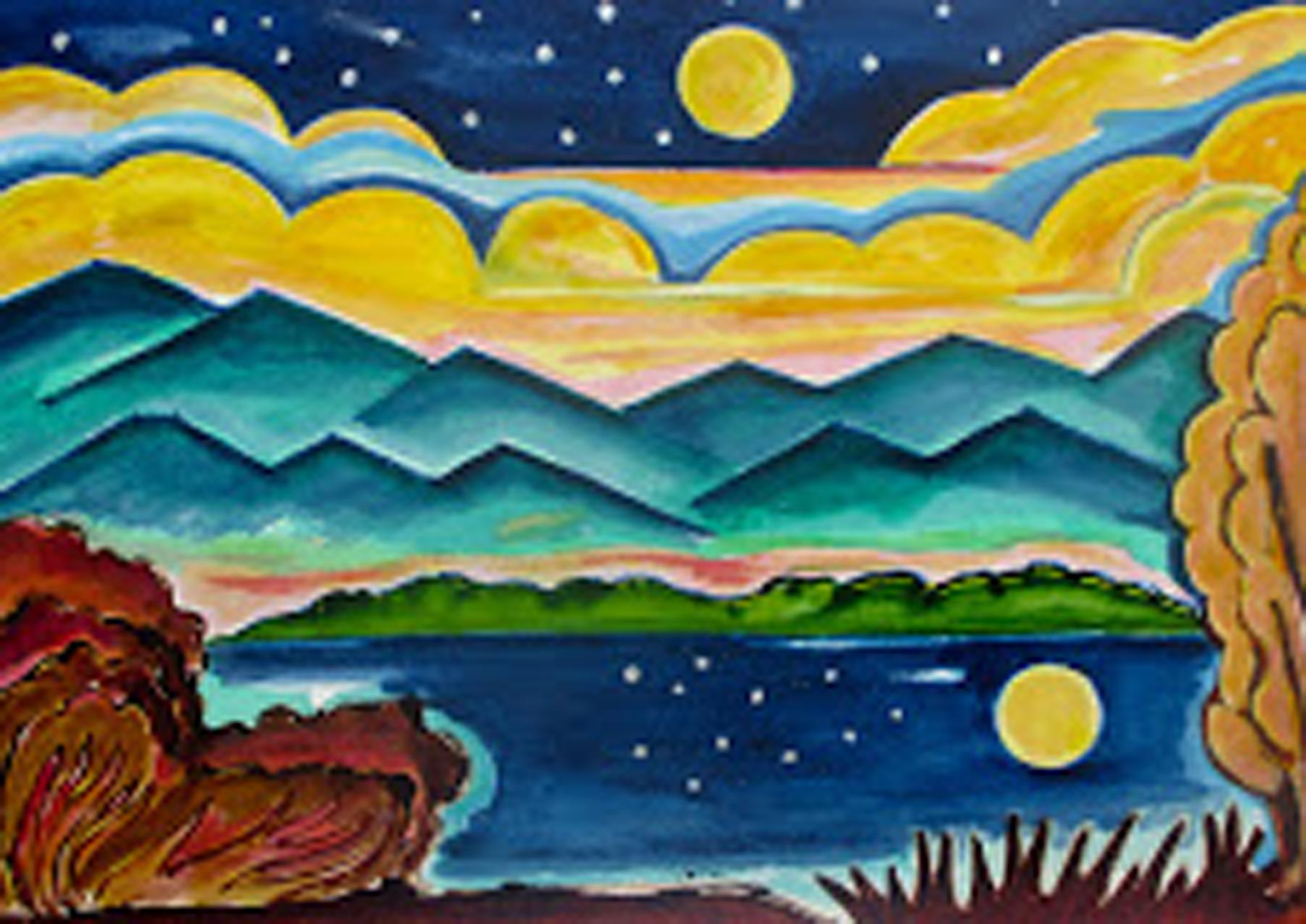 Marigold Moon, acrylic on canvas, 24 x 20 SOLD