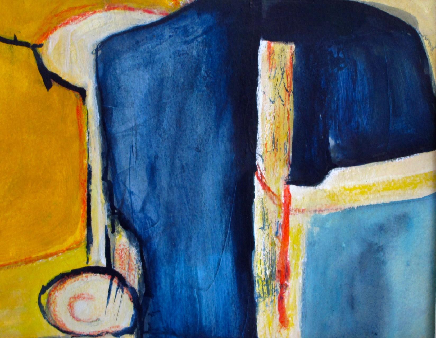 Blue Dawn, watercolor, 9.5 x 7.5, 2015