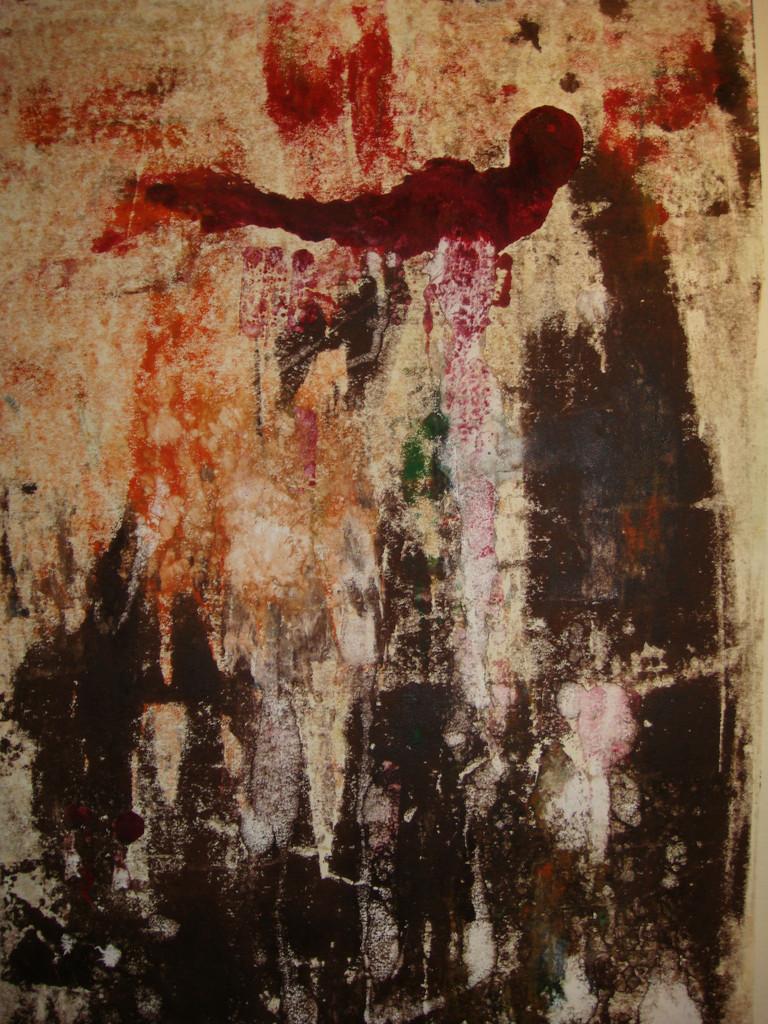 Firebird, monoprint, 18.5 x 12.5, 2008