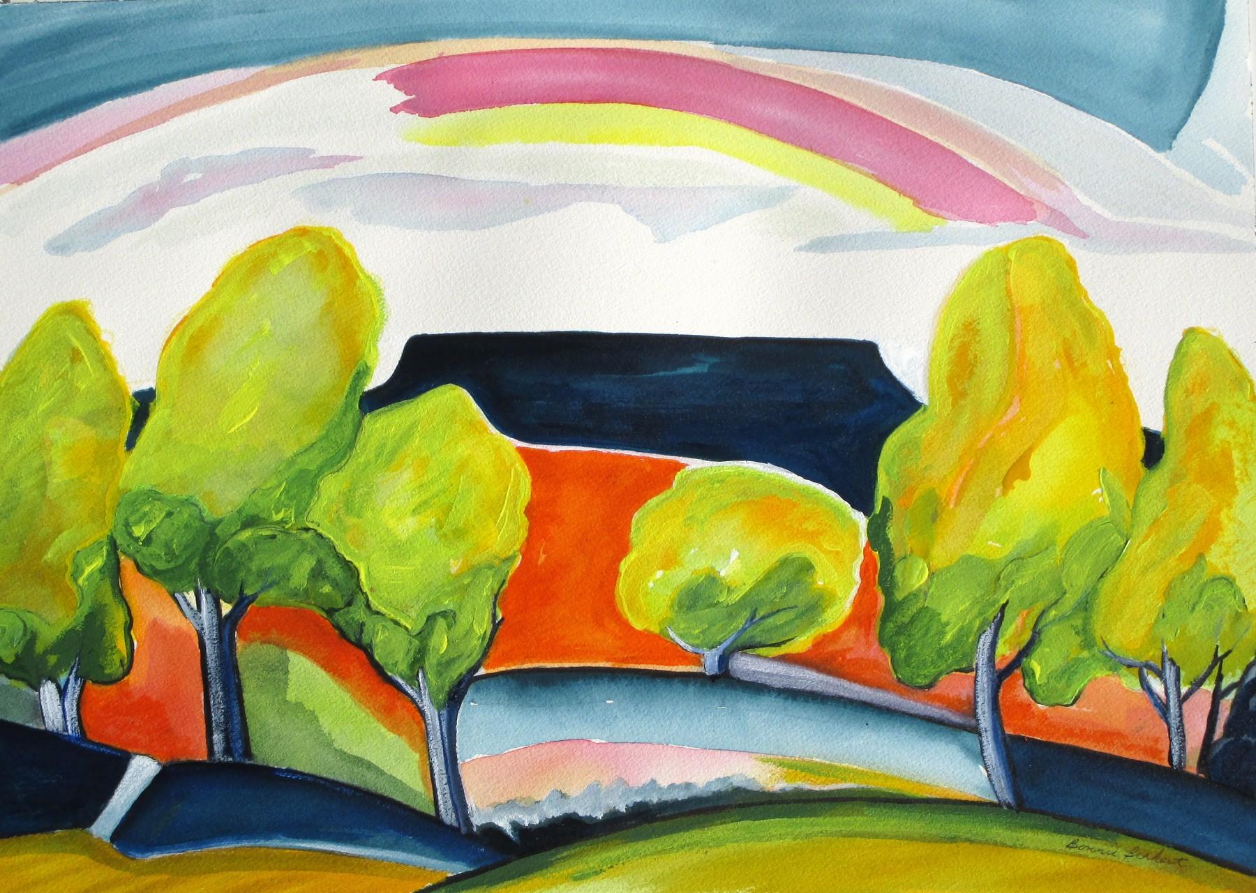 Aspen Grove, watercolor, 18.5 x 12.4, SOLD