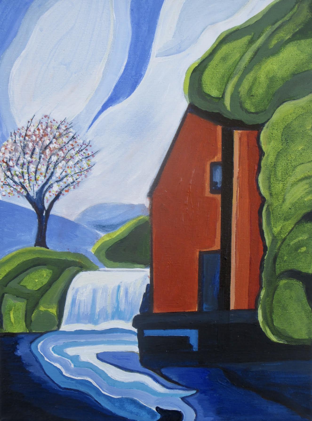 Spring Along the Arroyo, acrylic on canvas. 12 x 16