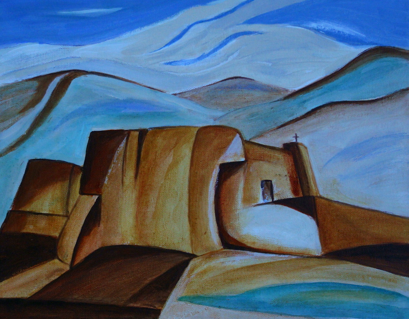 Rancho de Taos, watercolor, 14 x 11, 2014 SOLD
