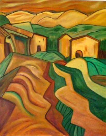 Spanish Hills, oil on canvas, 11 x 14