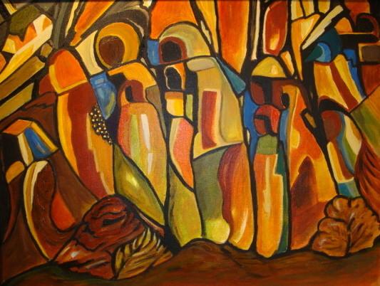 Hoodoos, acrylic on canvas, 11 x 14, 2014