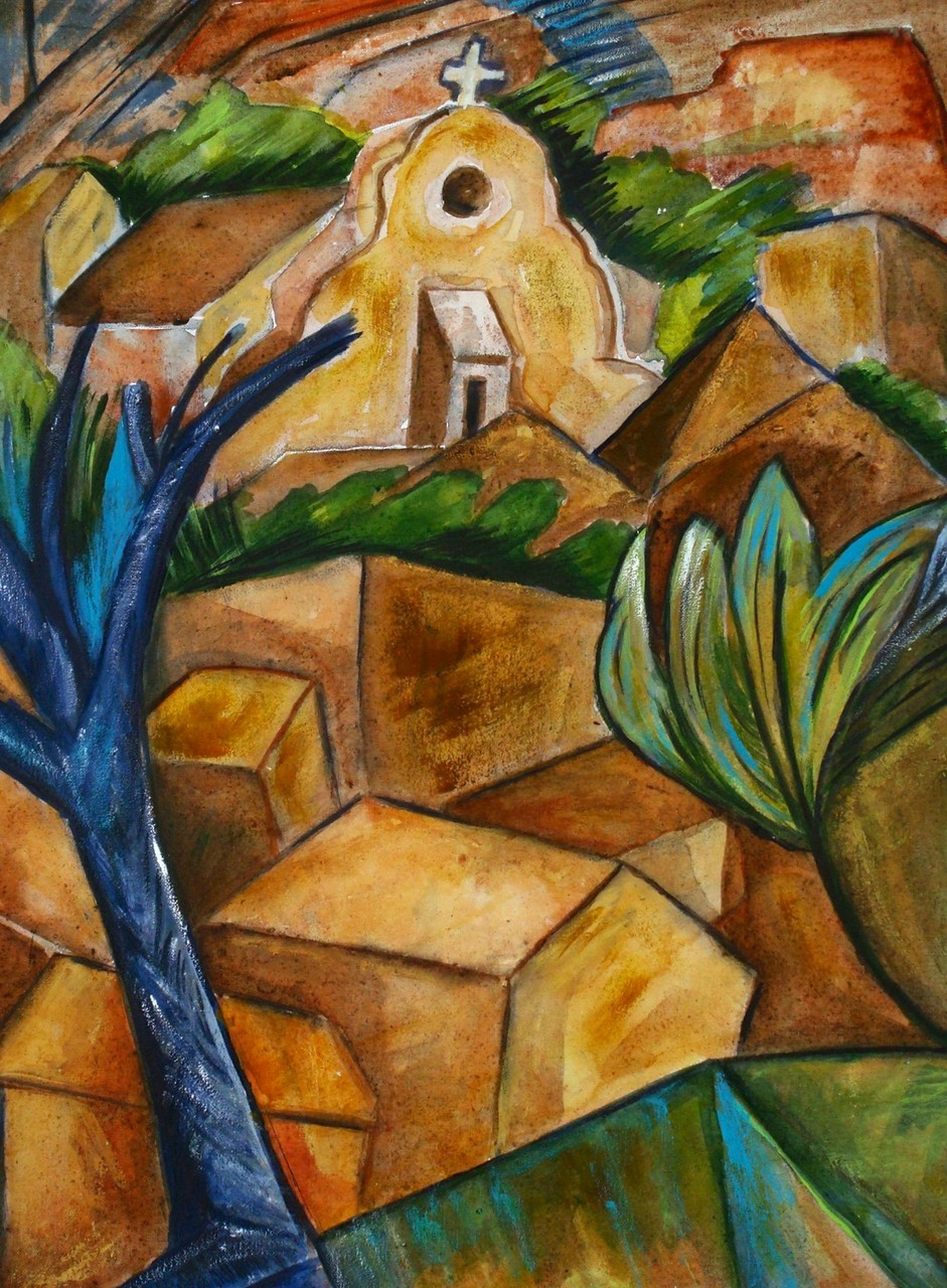 Mountain Village, watercolor, 12 x 16, 2014 SOLD