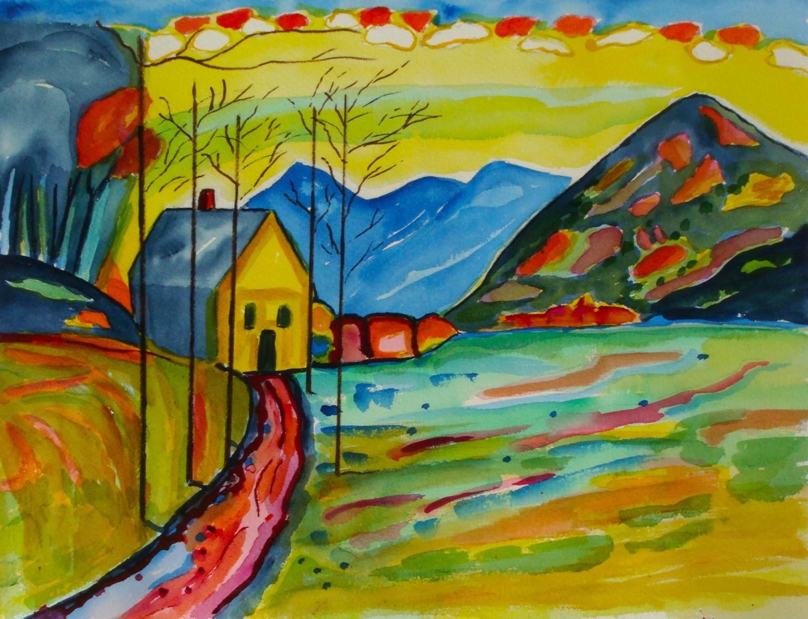 Murnau, watercolor, 13.5 x 10.5, 2014, SOLD