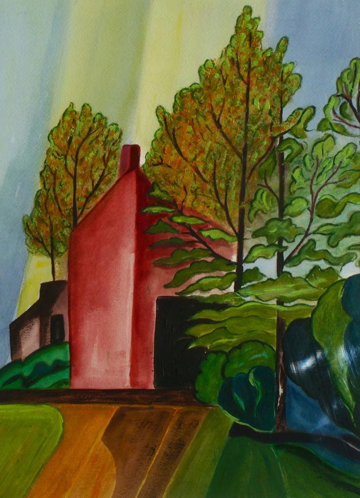 Autumn Splendor, watercolor, 11.5 x 15.5, SOLD