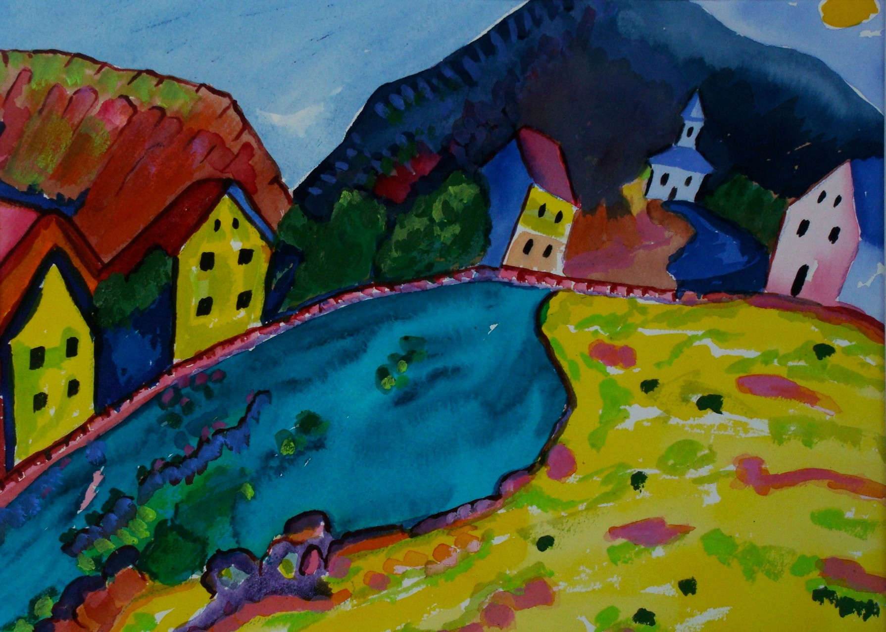 Murnau, watercolor, 13.5 x 10.5, SOLD