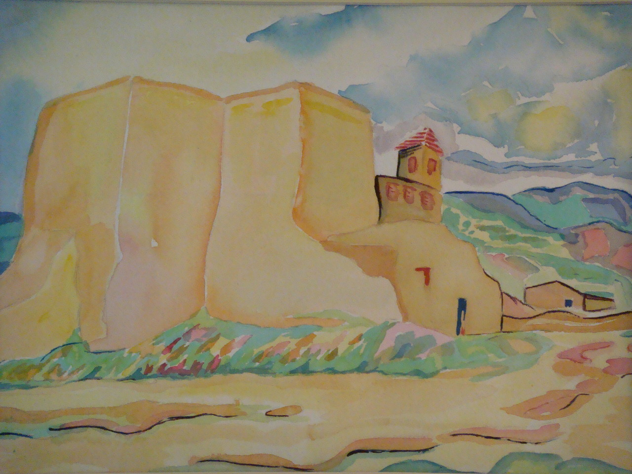 Rancho de Taos Church, watercolor, 15.5 x 11.5, 2012 SOLD