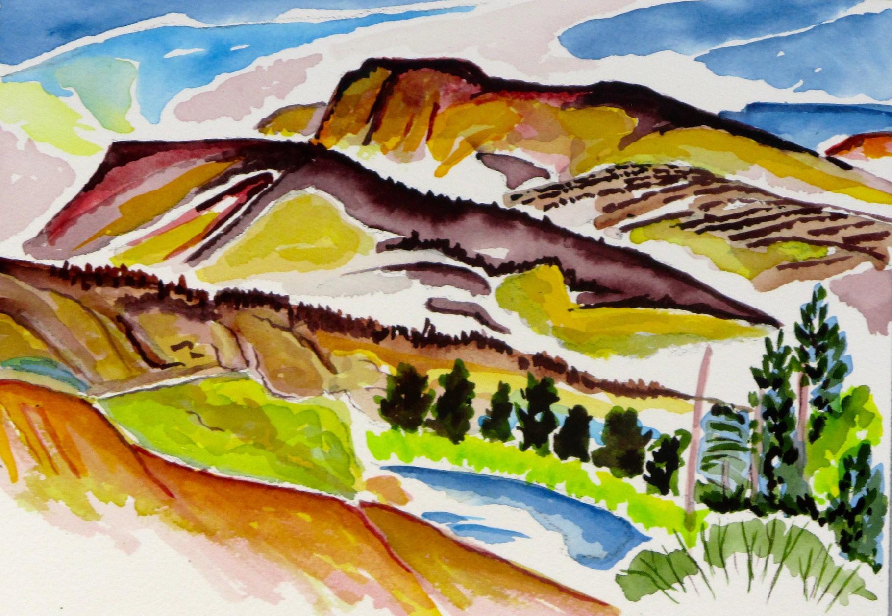 Southwest Autumn, watercolor, 9 x 6.5