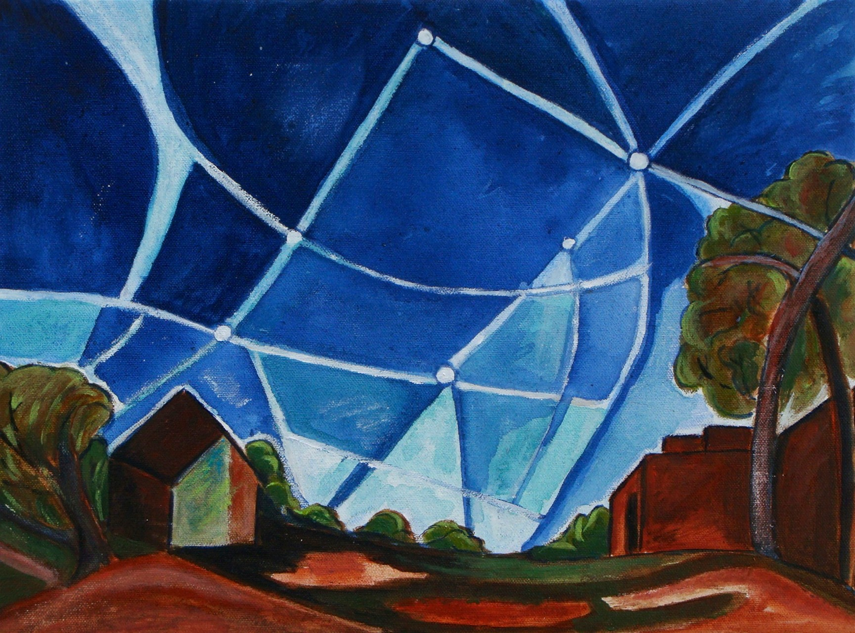 Meteor Shower, watercolor, 16 x 12, 2014 SOLD