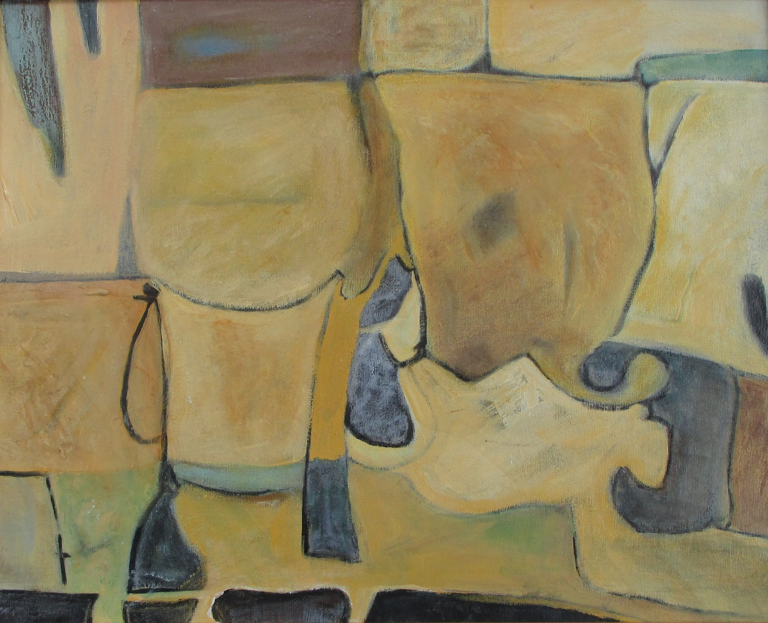 Madison, acrylic/encaustic on canvas, 20 x 16, 2015