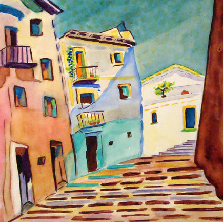 San Miguel de Allende, watercolor, 12 x 12, 2007 SOLD
