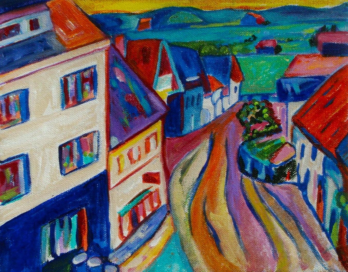 Bavaria, acrylic on canvas, 10 x 8