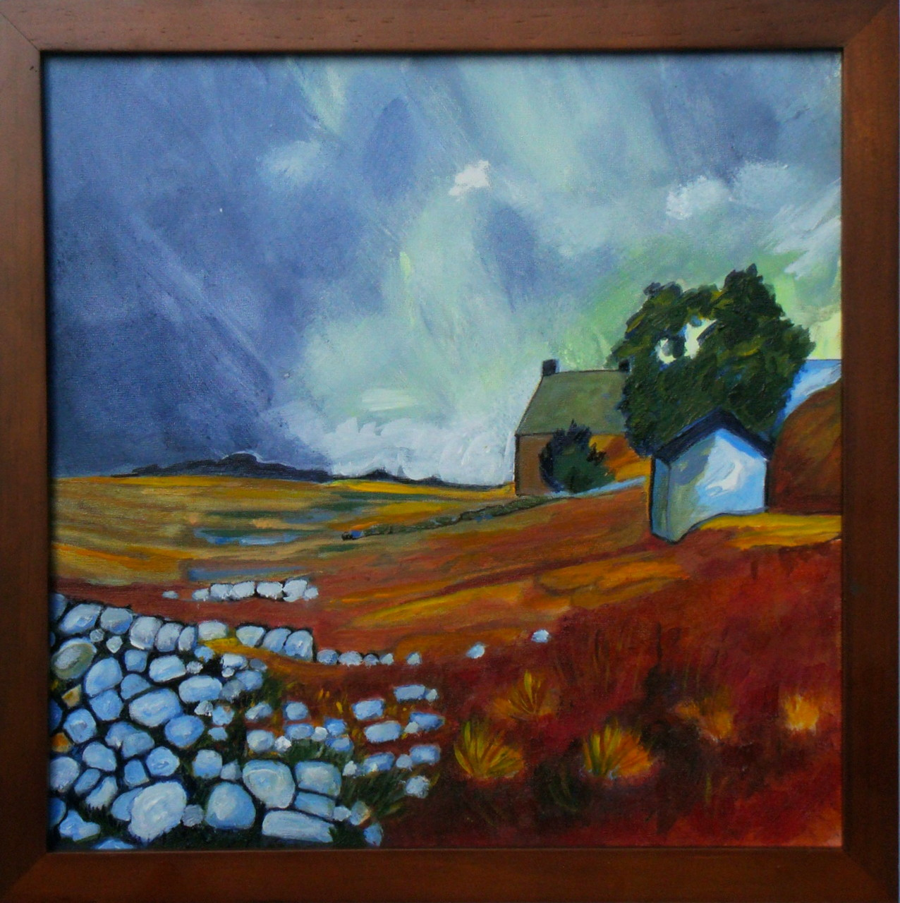 Summer Monsoon, acrylic on board, 12 x 12, 2012 SOLD