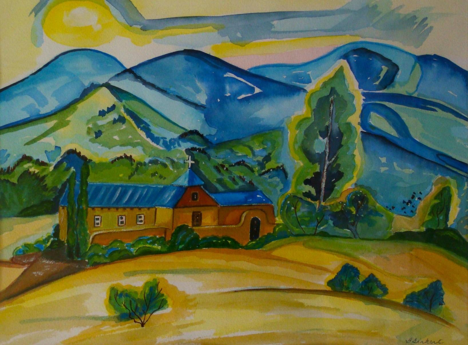 Mission Church, watercolor, 15.5 x 11.5, 2014