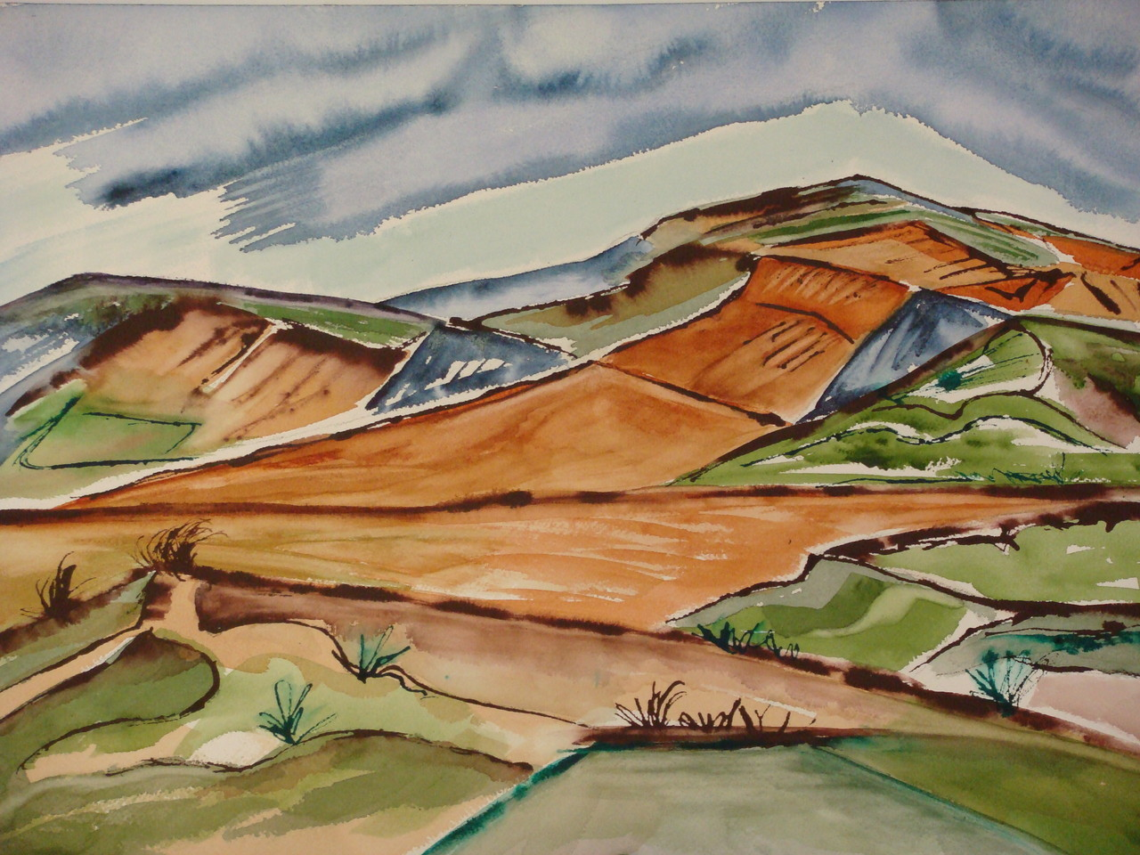 Mountain Storm, watercolor, 17.5 x 13.5, 2007 SOLD