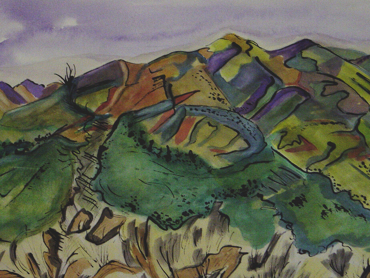 New Mexico Autumn, watercolor, 17.5 x 11.5, 2007 SOLD