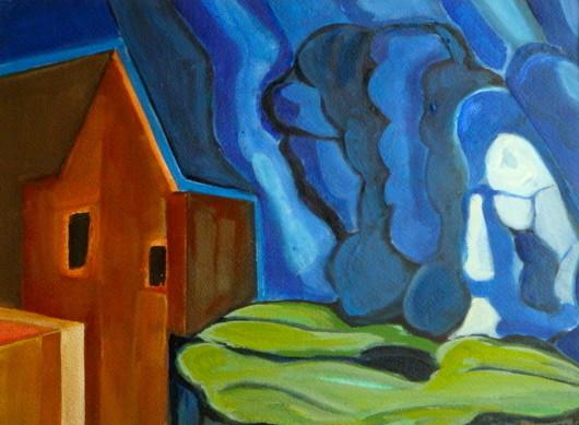 September Storm, watercolor, 11.5 x 8.5, 2012