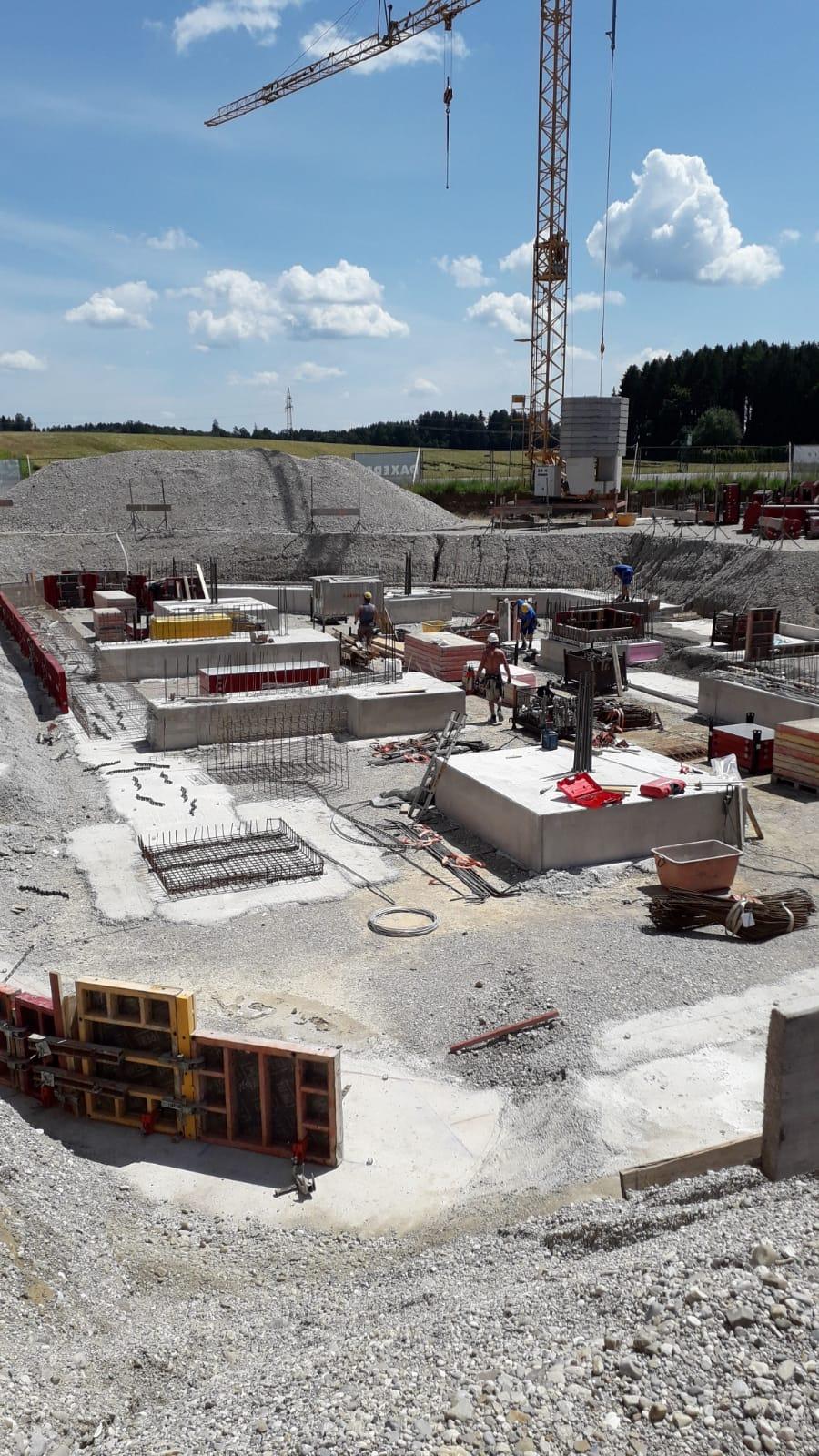 CERIT Baustelle im Gewerbegebiet Straßlach