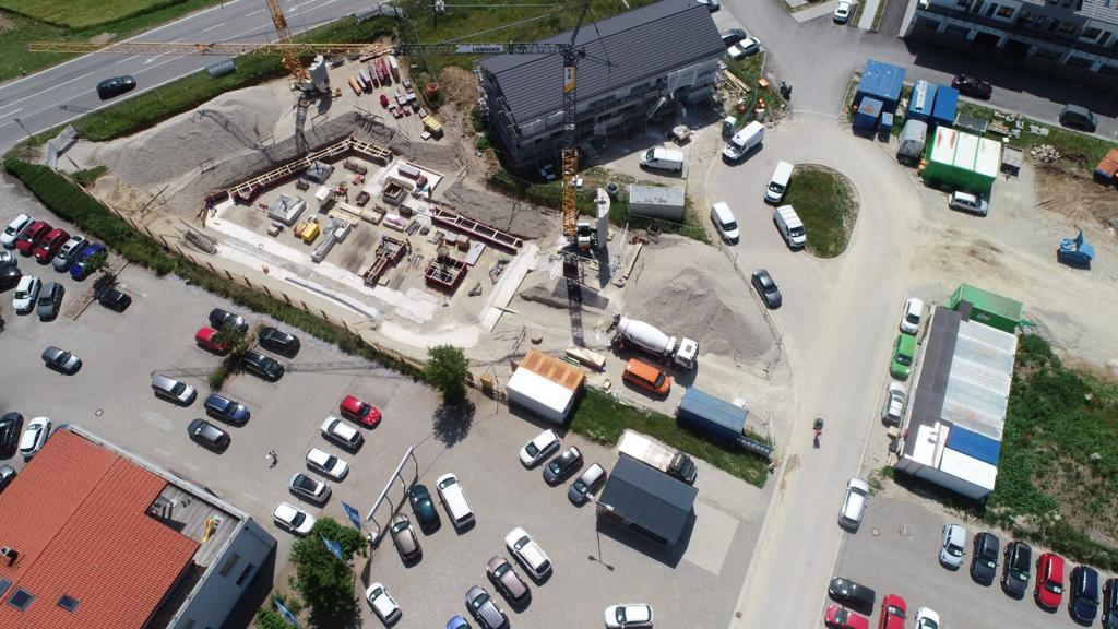 Aus der Luft auf die CERIT-Baustelle