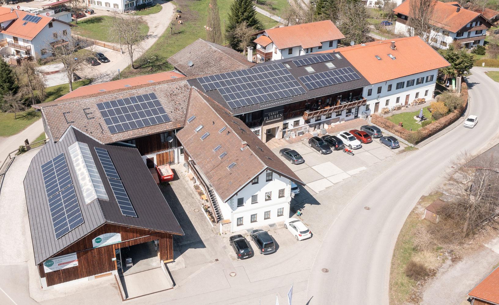 Luftbild Cerit Fliesen Feldkirchen-Westerham