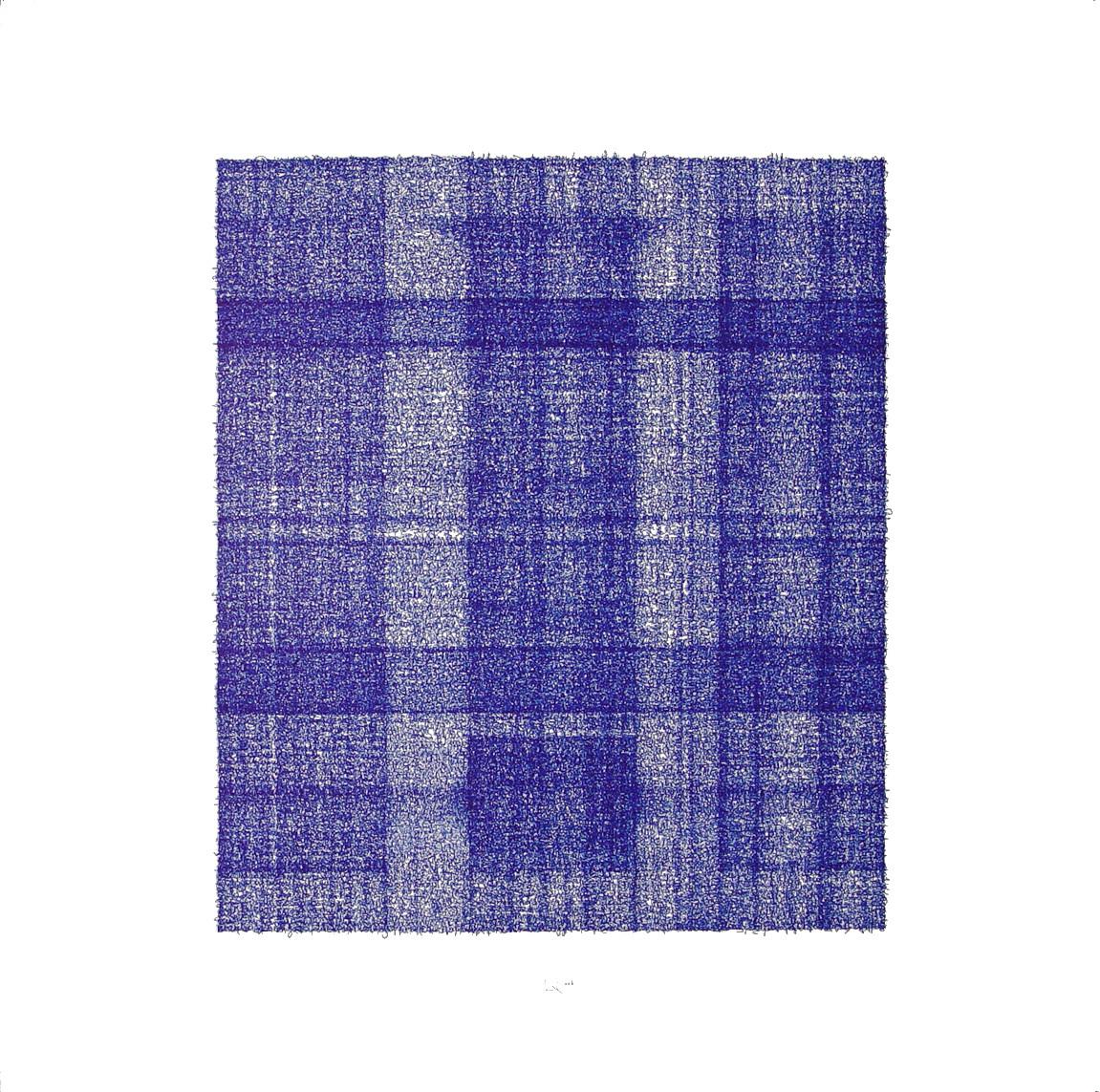 Die drei Betrüger / The three scammers; Tinte auf Bütten 100 x 100 cm; 2003
