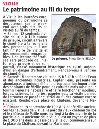 Dauphiné Libéré, Romanche Oisans, Vizille, édition du 16 septembre 2021 -